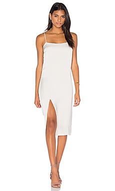 Midi Slip Dress in Oyster