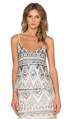 V Neck Cami in Empire Sequin