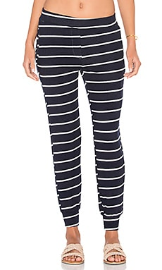Lynn Jogger Pant in Navy & White Stripe