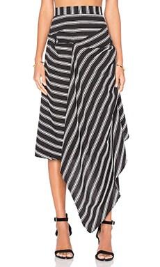 Avril Stripe Skirt in Black