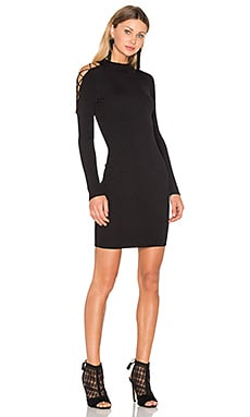 Irving Place Bodycon Dress in Black