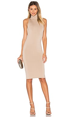 Sleeveless Midi Dress in Tan