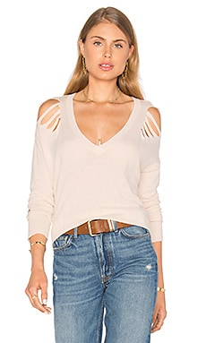 Lucerne Distressed Sweater in Blush