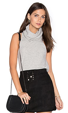 Vienna Cashmere Sleeveless Sweater in Heather Grey