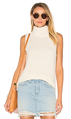 Leeds Sleeveless Sweater in Winter White