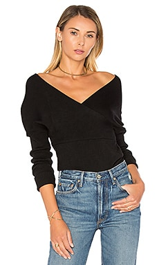 Brighton Off Shoulder Sweater in Black
