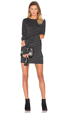 Swirl Dress in Black Space Melange