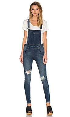 Dungaree Overall in Carbon Blue