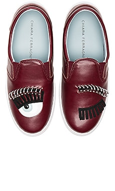 Piercing Flirting Slip-On Sneaker in Bordeaux
