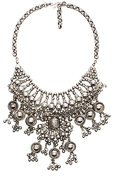Moon Dweller Indian Necklace in Silver