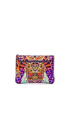 Small Canvas Clutch in Rainbow Warrior