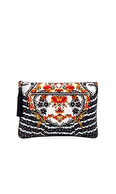Large Canvas Clutch in La Rosa