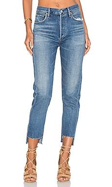 LIYA 高低裤口牛仔裤