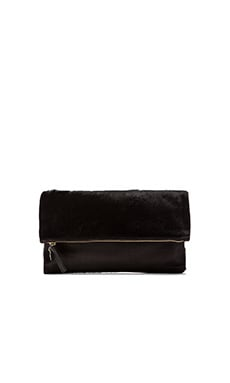 Foldover Clutch in Black Hair