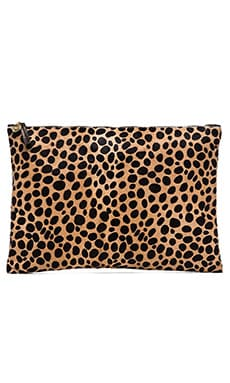Oversize Clutch in Leopard