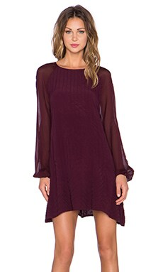 Karlie Mini Dress in Oxblood