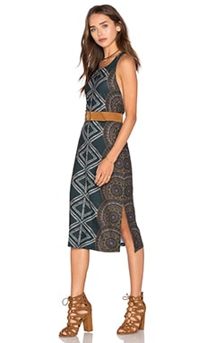 Tribe Midi Dress in Geo Radial