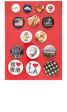 x REVOLVE Pin Badge Set in Mixed