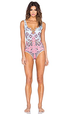 Modern Paisley One Piece in Multi