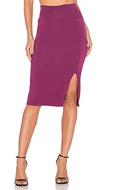 Pencil Skirt in Claret