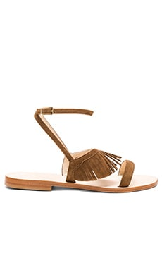 Cantone Sandal in Cuoio Classic Suede