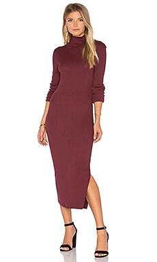 Melbourne Midi Dress in Burgundy