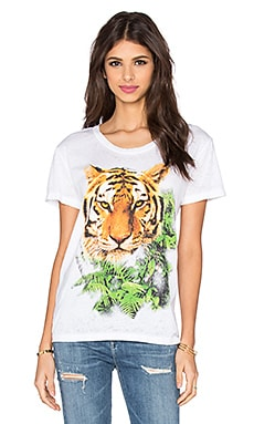 Jungle Tiger Tee in White