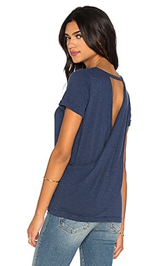 Cross Back Rolled Sleeve Tee in Oasis