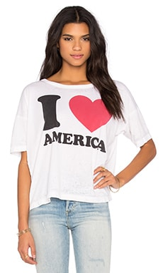 I Heart America Tee in White