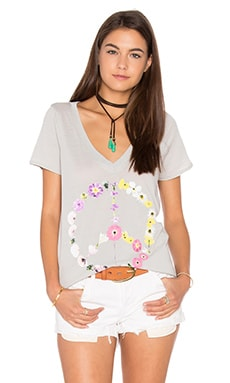 Peace Blossom Tee in Misty
