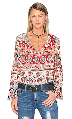 Double V Peasant Blouse in Tapestry