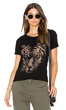 White Tiger Tee in Black