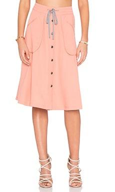 Vana Button Up Skirt in Tawny Orange