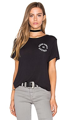 Good Vibes Goodbye Tee in Black