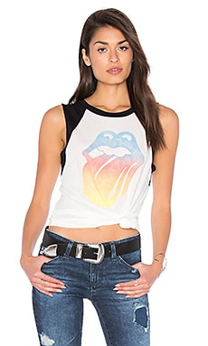 Rolling Stones Tour 72 Tee in Vintage White