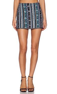 Mousse Embellished Skirt in Multi
