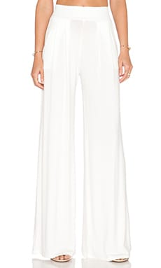 Amber Wide Leg Pant in White