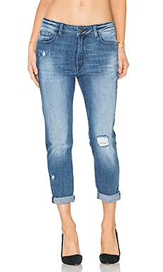 x Jessica Alba No. 6 Slouchy Skinny in Scratched