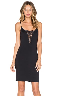 Plunging Neckline Dress in Classic Black