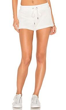 Mesh Sport Short in Soft White