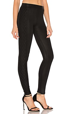 Quilted Tuxedo Legging in Classic Black