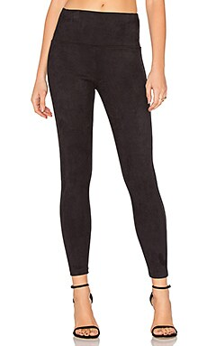 Elliott Micro Suede Legging in Classic Black