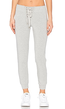 Lace Front Track Pant in Medium Heather Grey