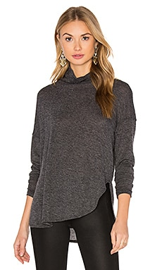 Long Sleeve Turtleneck Tee in Charcoal Grey