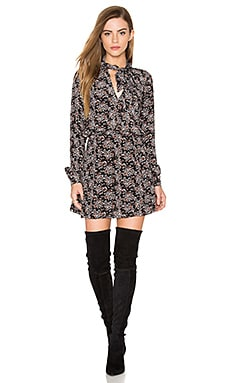 Liz Dress in Black Floral Print