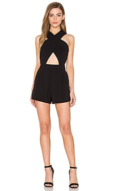 Hudson Romper in Black
