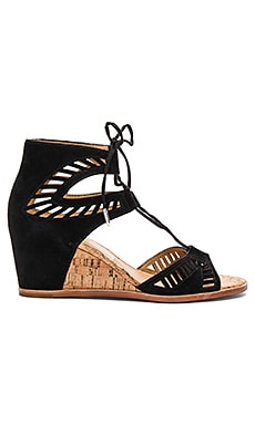 Linsey Wedge in Black Suede