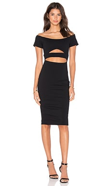 Marilyn Cut Out Midi Dress in Black