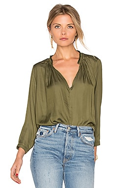 Lucienne Top in Cadet Green
