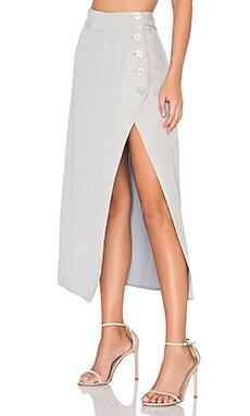 Kenni Midi Skirt in Asphalt Gray